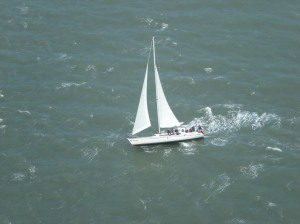 Sailboat tilting