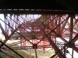 Super structure walking under the bridge