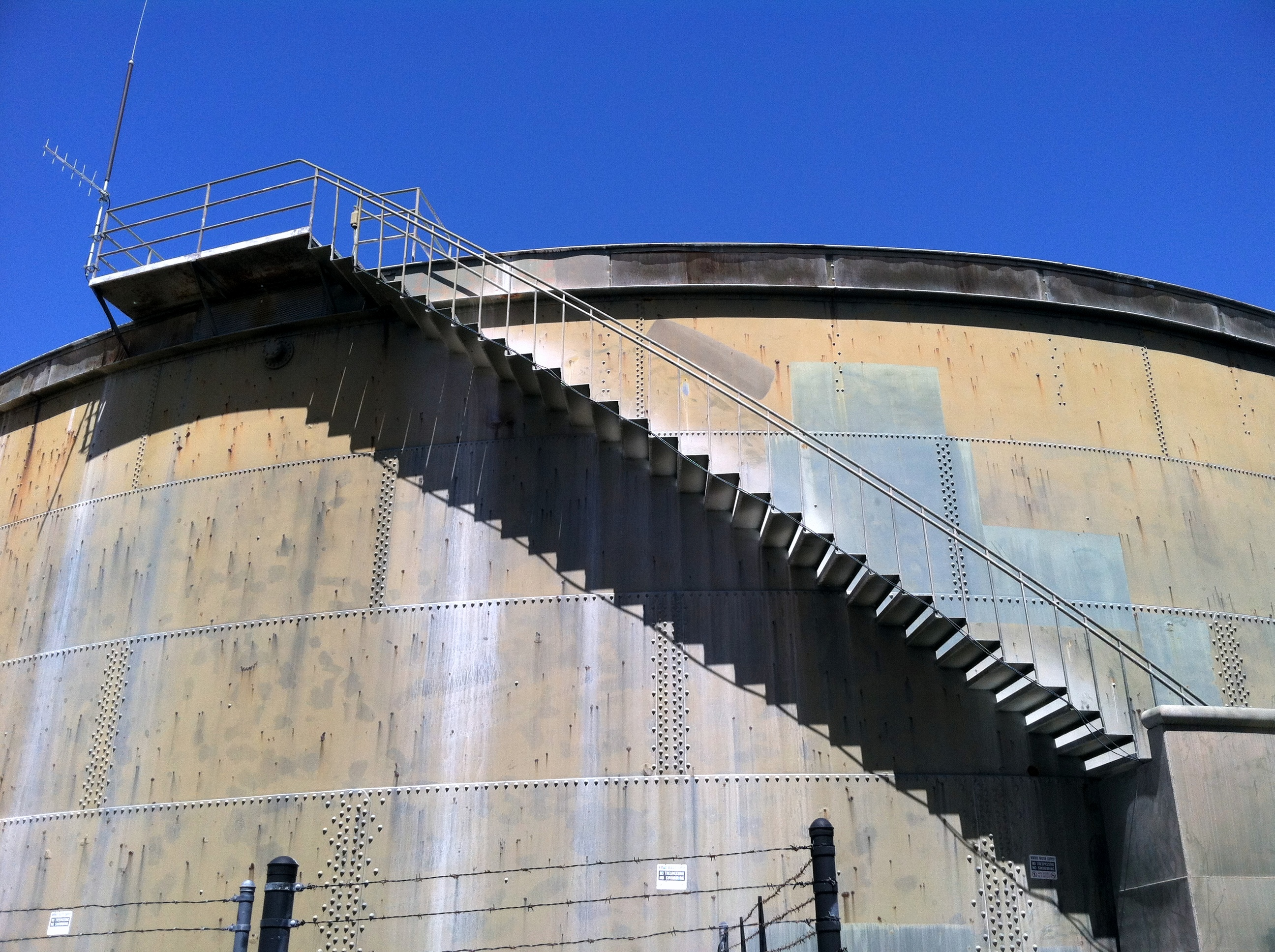 Water Tank Stairs : Hikes baydreamer