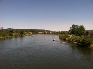 old mill district in bend, Deschutes river
