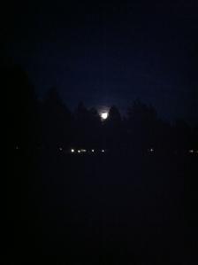super moon through the condos