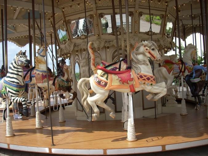 carousel horse white