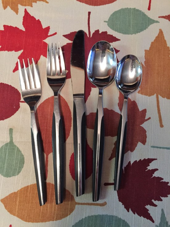 my parents' black silverware